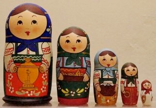 Russian Doll Happy Family Cook