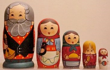 Russian Doll Happy Family Father Musician
