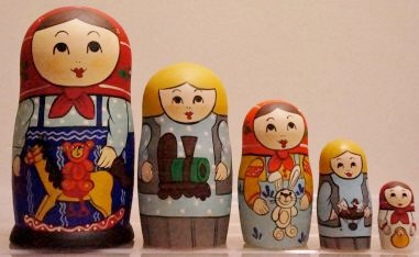 Russian Doll Happy Family Toy Horse