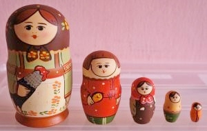 Russian Doll Happy Family Rooster