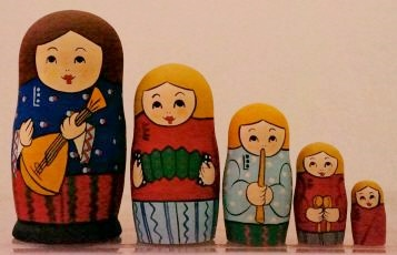 Russian Doll Happy Family Musicians