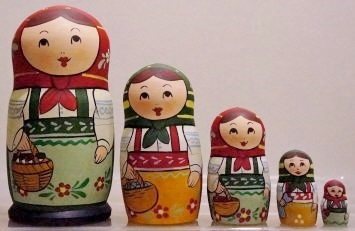 Russian Doll Happy Family Picnic